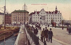 Slussen, vykort tidigt 1900-tal
