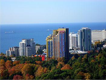 English: Skyline of Sochi, Russia
