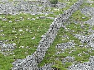 English: Dry stone walls in England near Malha...