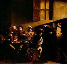Naturalismo: La vocación de San Mateo (1601), de Caravaggio, Iglesia de San Luis de los Franceses (Roma).