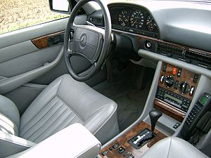 W126 S-Class driver's seat with SRS airbag.