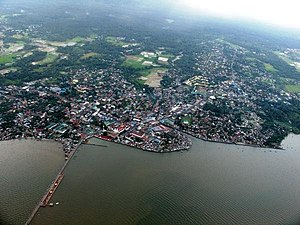 English: Aerial View of Sorsogon City