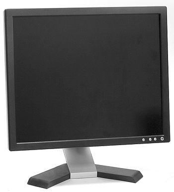 English: A flat panel LCD computer monitor