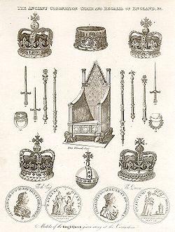 Algunas de las joyas de la Corona del Reino Unido