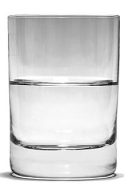 Glass Half Full bw 1