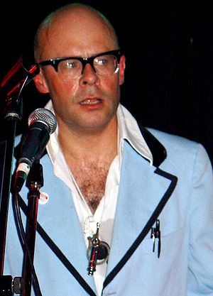 Harry Hill in Putney with The Caterers in 2006.
