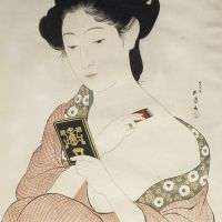 """Woman Powdering Her Neck"" by Goyō Hashiguchi"