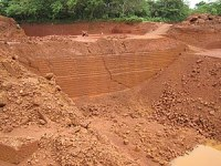 Laterite bricks quarry in koovery
