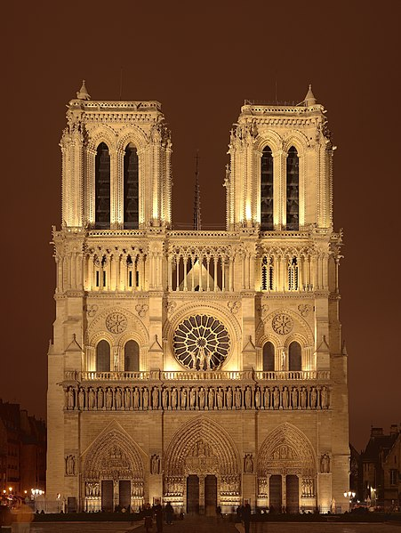 fasada katedry Notre-Dame de Paris