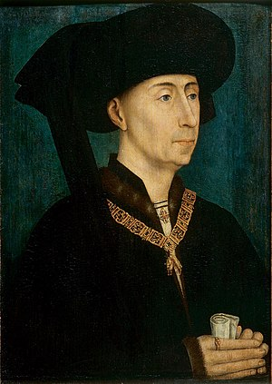 Philip III, Duke of Burgundy, with the collar ...