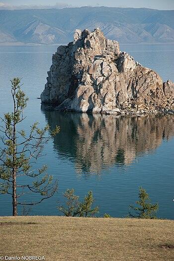 Shaman Rock at Olkhon Island