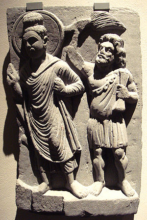 The Buddha And Vajrapani, Gandhara 2nd Century