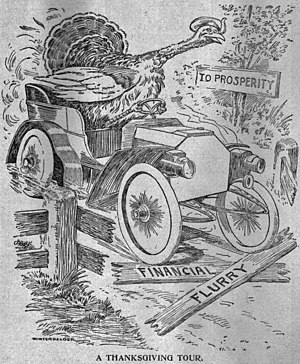 """A Thanksgiving Tour"". 1907 editoria..."