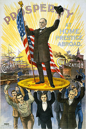 USA presidential campaign poster 1900 William ...