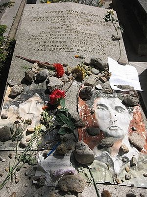 Grave of Amedeo Modigliani and Jeanne Hébuterne