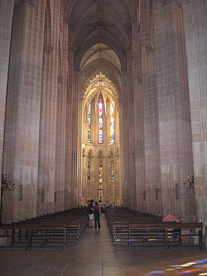 Nave and choir of the church of the Monastery ...