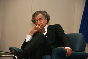 English: Bernard-Henri Lévy at Tel Aviv Univer...