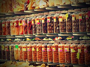 Chinese herbal store reposted with lomo effect...