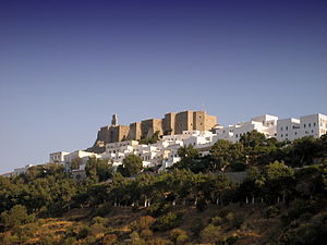 English: The citadel (Chora) of Patmos Island,...