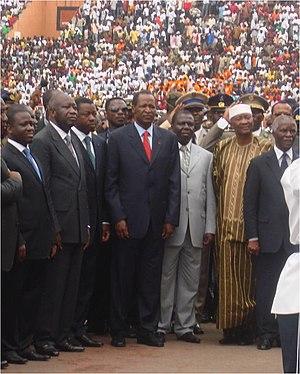 Chefs d'Etats africains à la cérémonie de la f...