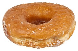 A plain glazed donut. This was bought at a Dun...