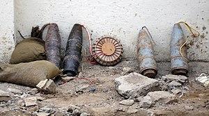 Original caption:Iraqi Police discovered this ...
