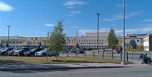 English: Lathrop High School in Fairbanks, Ala...
