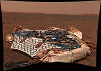 Wahana pendarat Spirit di Mars pada tahun 2004