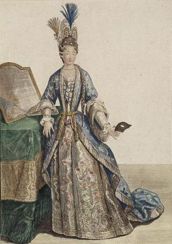 English: Drawing of Marie de Lorraine as the D...