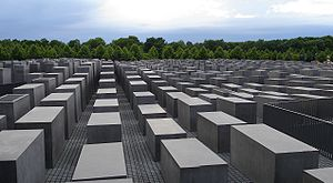 Looking over the Memorial to the murdered Jews...