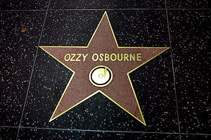 Ozzy Osbourne Star at Hollywood