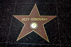 Ozzy Osbourne Star at Hollywood