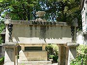 Tumba de Molière, en el cementerio de Père Lachaise, Par�s
