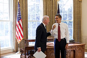 English: President Barack Obama and Vice Presi...