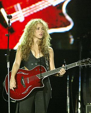 English: Shakira at the Rock in Rio concert in...