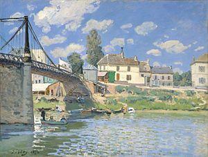 English: Painting by Alfred Sisley - Bridge at...