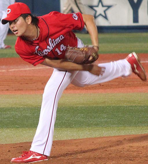 20140906 Daichi Osera, pitcher of the Hiroshima Toyo Carp, at Yokohama Stadium