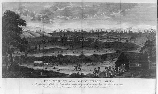 Encampment of the convention army at Charlotte Ville in Virginia