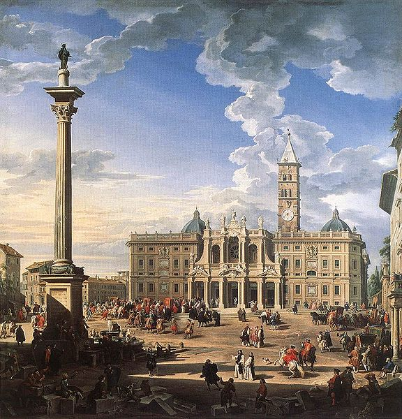 Plik:Giovanni Paolo Pannini - The Piazza and Church of Santa Maria Maggiore.jpg