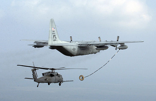 Helicopter aerial refueling