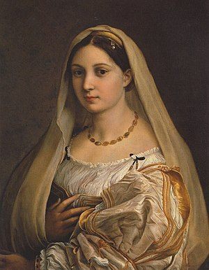 "Raphael, ""Woman with a veil (La Donna Velata)""..."
