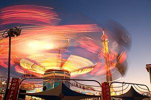 A fair ride taken with a long shutter speed.