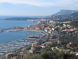 View at Menton from the highway