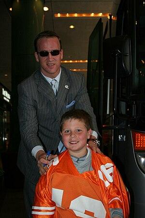 Palmer and Peyton Manning 10/29/2006
