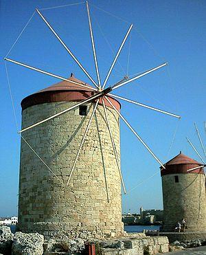 English: Rhodes harbour, Greece.
