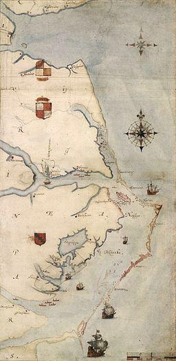Roanoke map 1584