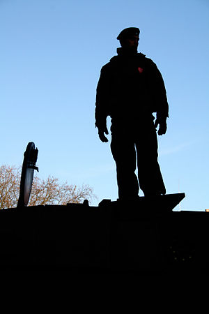 Soldier Silhouette with the heart.