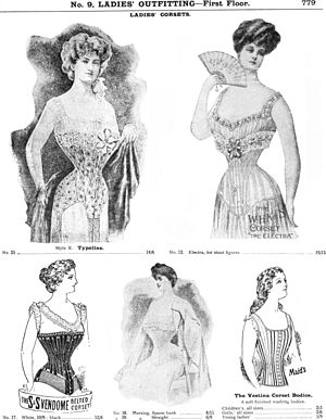 English: Corsets