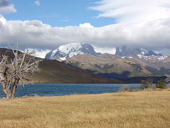 Torres del Paine (Paine Towers) - view from La...