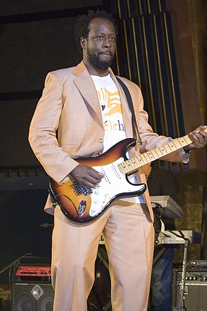Wyclef Jean performing at the General Assembly...
